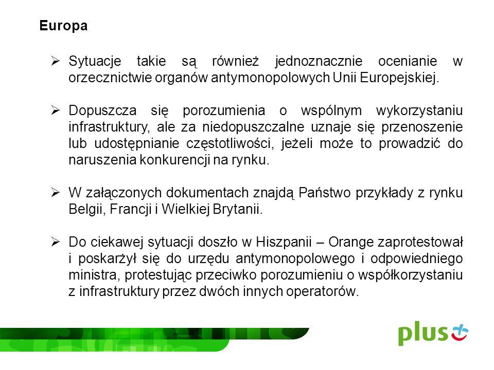 Europa Sytuacje takie są również jednoznacznie ocenianie w orzecznictwie organów antymonopolowych Unii Europejskiej.