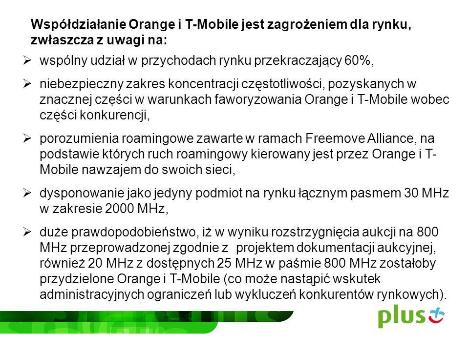 Współdziałanie Orange i T-Mobile jest zagrożeniem dla rynku,
