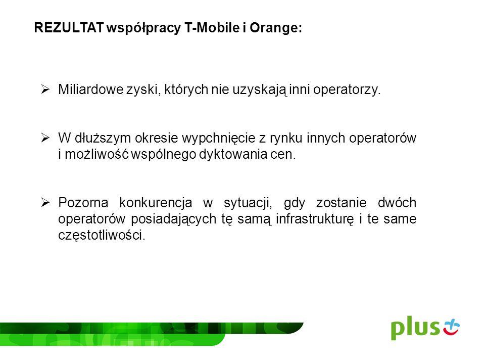 REZULTAT współpracy T-Mobile i Orange: