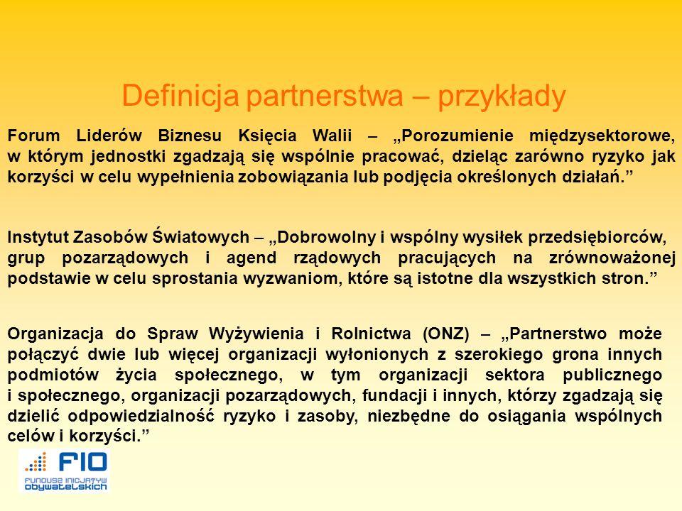 Definicja partnerstwa – przykłady