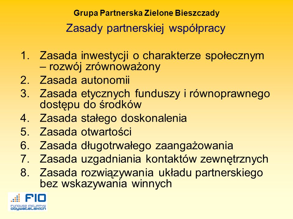 Grupa Partnerska Zielone Bieszczady