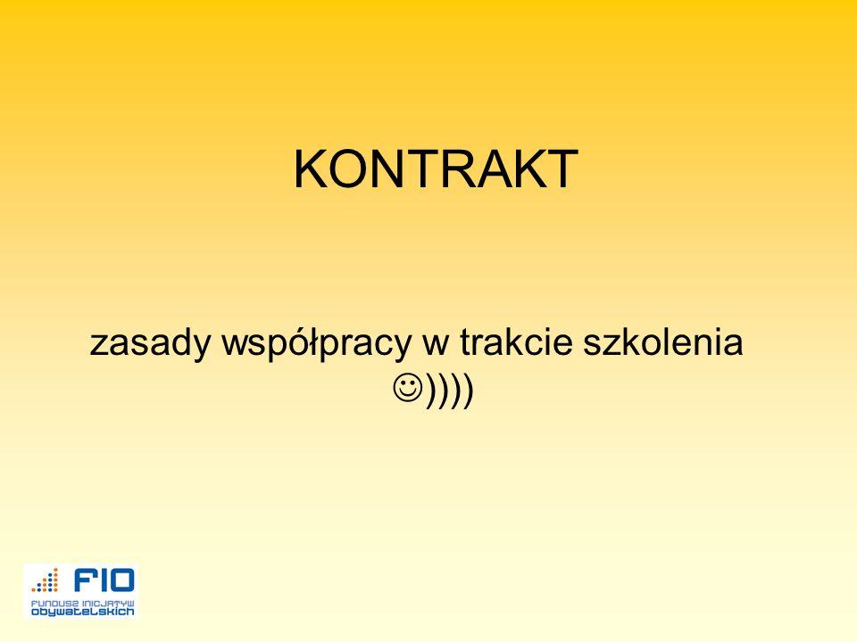zasady współpracy w trakcie szkolenia ))))