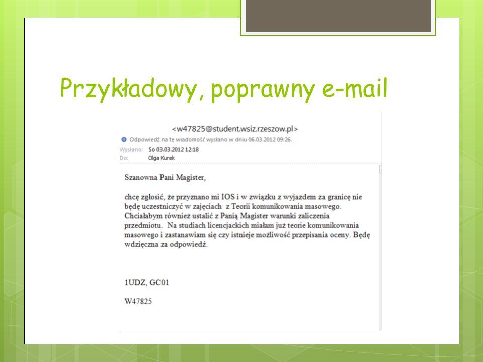 Przykładowy, poprawny e-mail