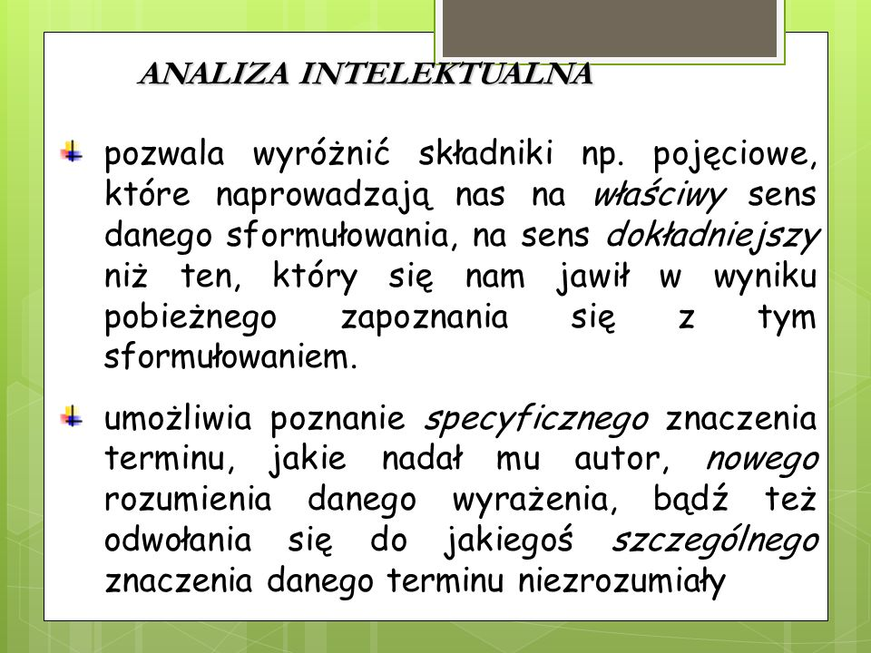ANALIZA INTELEKTUALNA