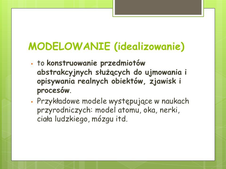 MODELOWANIE (idealizowanie)