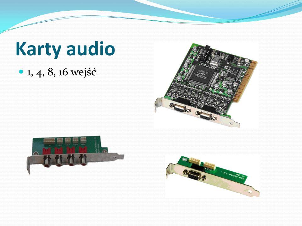 Karty audio 1, 4, 8, 16 wejść