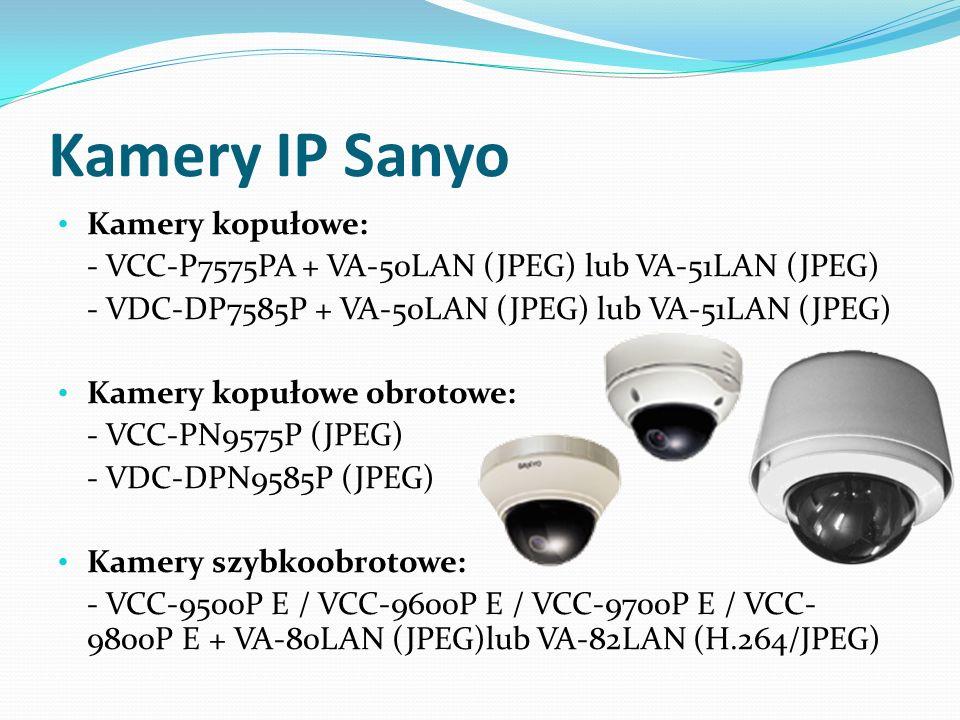 Kamery IP Sanyo Kamery kopułowe:
