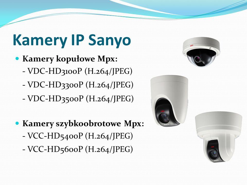 Kamery IP Sanyo - VDC-HD3300P (H.264/JPEG) - VDC-HD3500P (H.264/JPEG)
