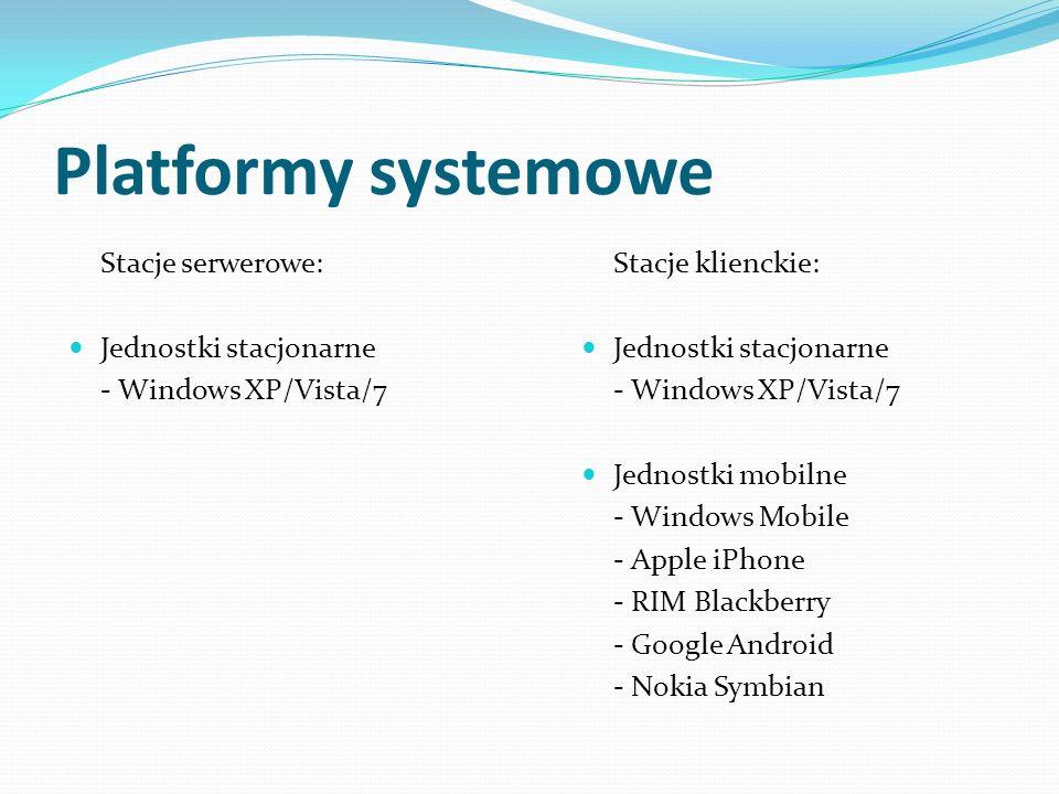 Platformy systemowe Stacje serwerowe: Jednostki stacjonarne