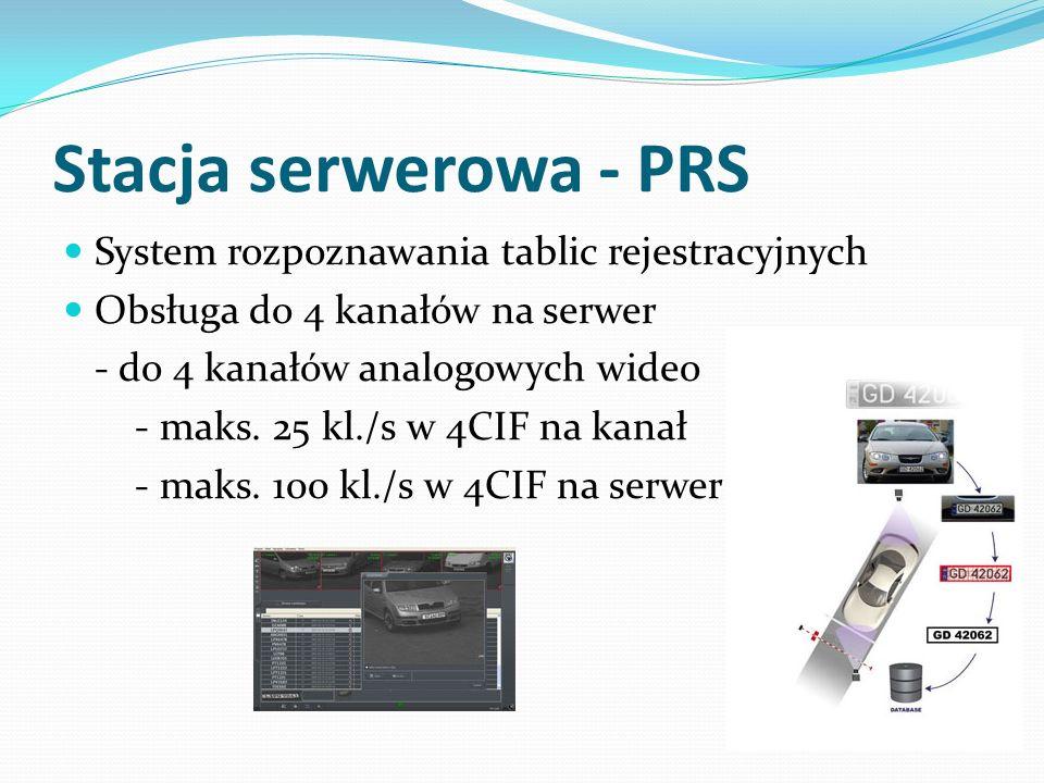 Stacja serwerowa - PRS System rozpoznawania tablic rejestracyjnych