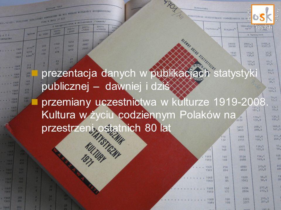 prezentacja danych w publikacjach statystyki publicznej – dawniej i dziś