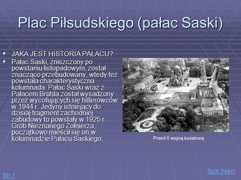 Plac Piłsudskiego (pałac Saski)