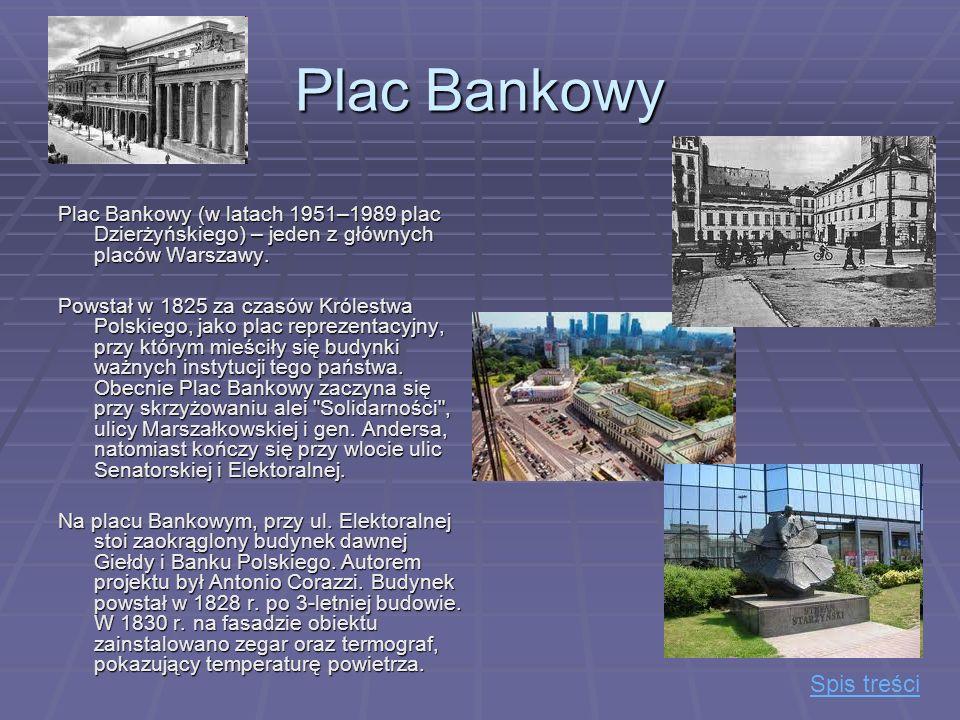 Plac Bankowy Spis treści