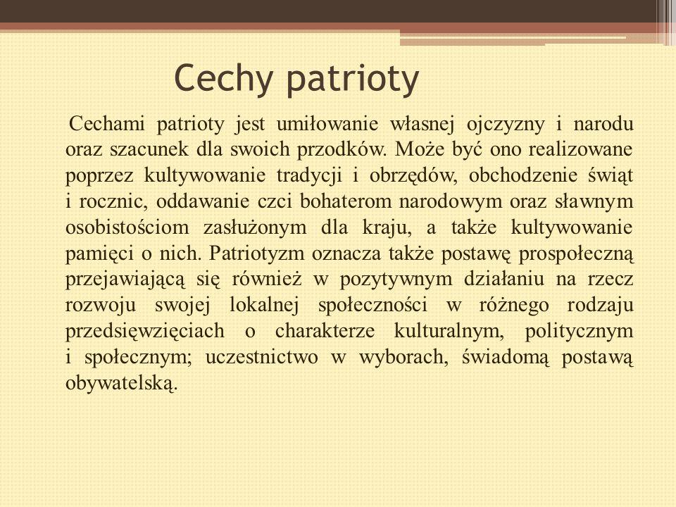Cechy patrioty