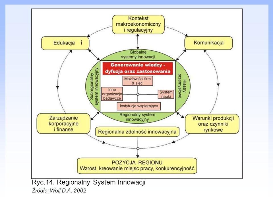 Ryc.14. Regionalny System Innowacji