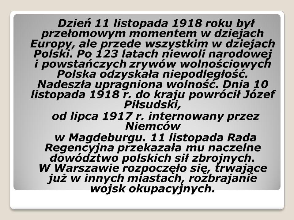 od lipca 1917 r. internowany przez Niemców
