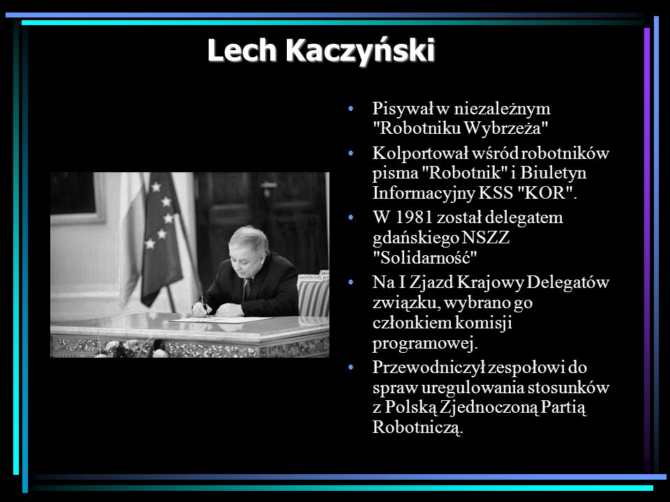 Lech Kaczyński Pisywał w niezależnym Robotniku Wybrzeża
