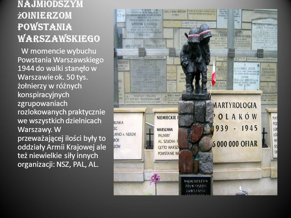 Najmłodszym żołnierzom powstania warszawskiego