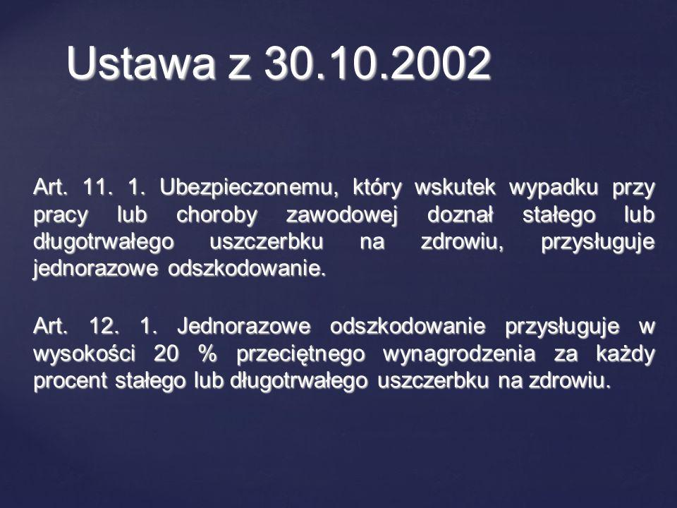 Ustawa z 30.10.2002