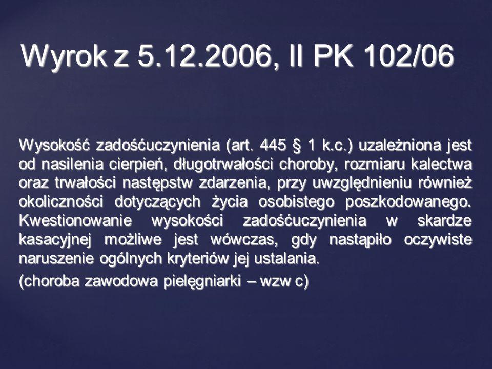 Wyrok z 5.12.2006, II PK 102/06