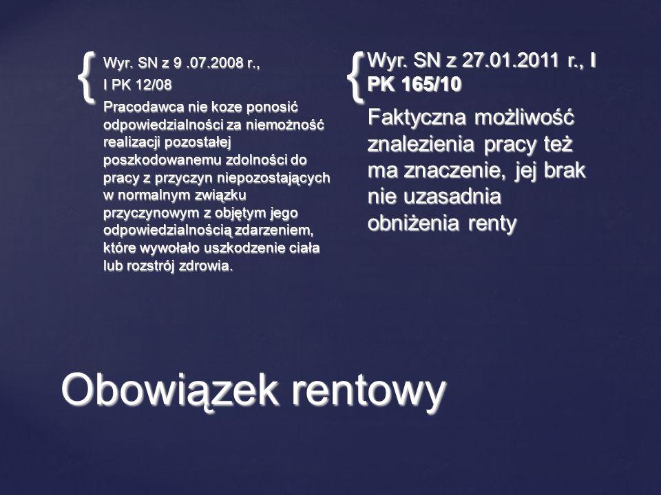 Wyr. SN z 27.01.2011 r., I PK 165/10 Wyr. SN z 9 .07.2008 r., I PK 12/08.