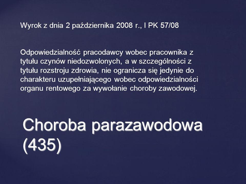 Choroba parazawodowa (435)
