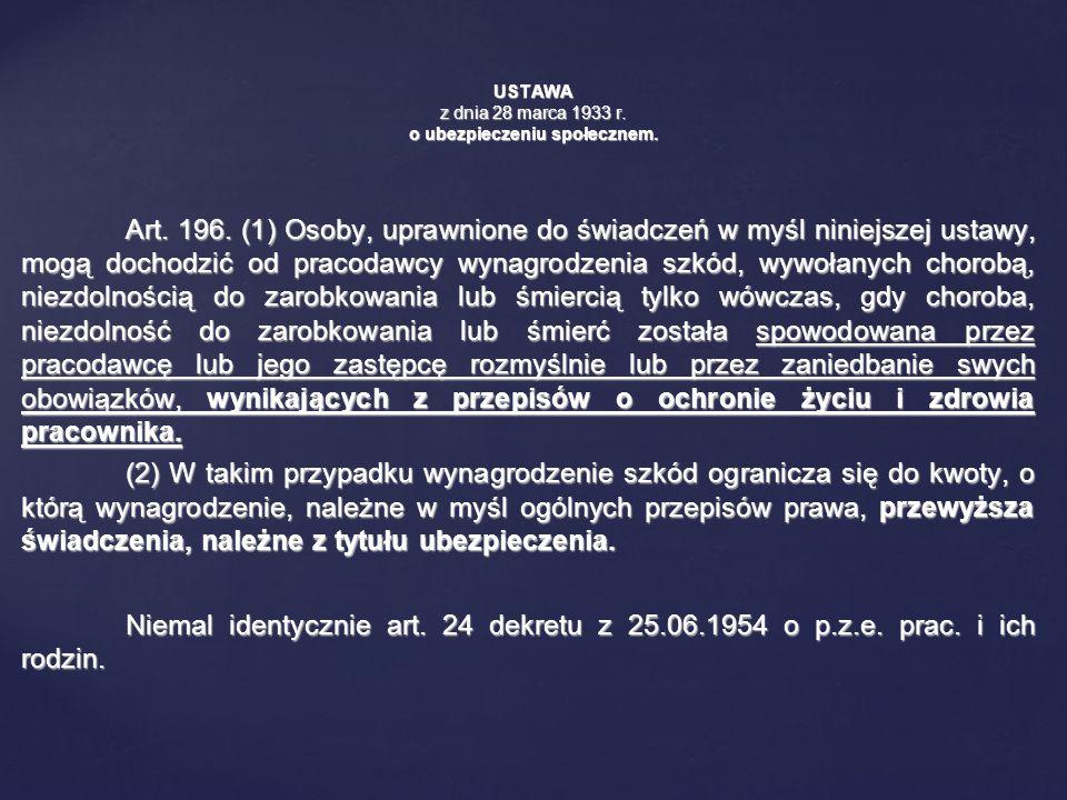 USTAWA z dnia 28 marca 1933 r. o ubezpieczeniu społecznem.