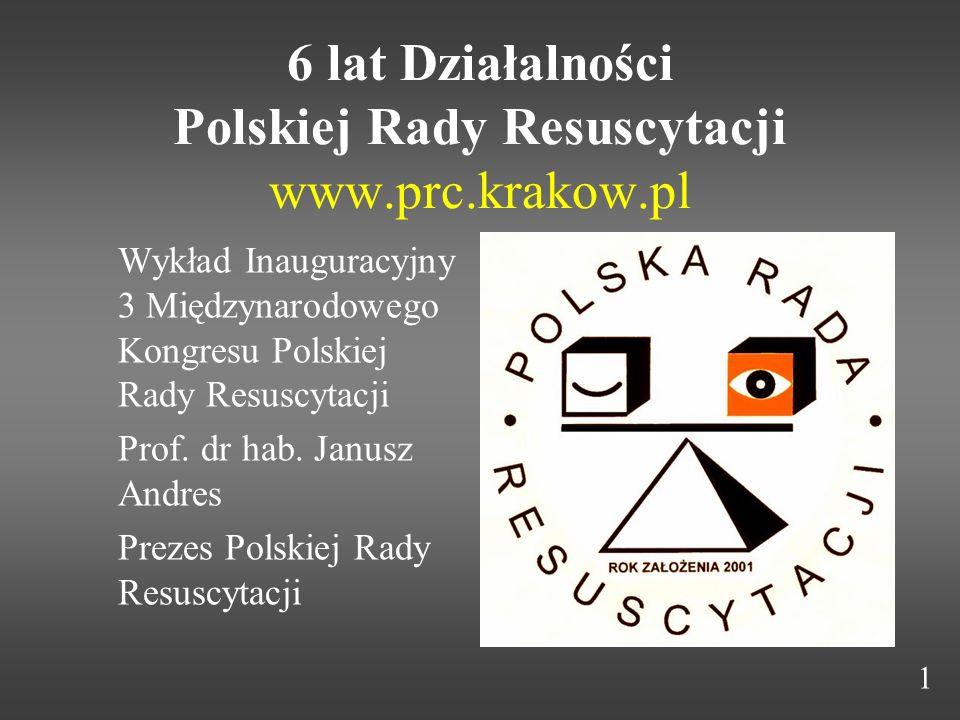 6 lat Działalności Polskiej Rady Resuscytacji www.prc.krakow.pl