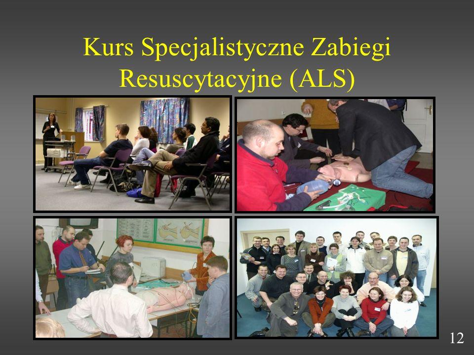 Kurs Specjalistyczne Zabiegi Resuscytacyjne (ALS)