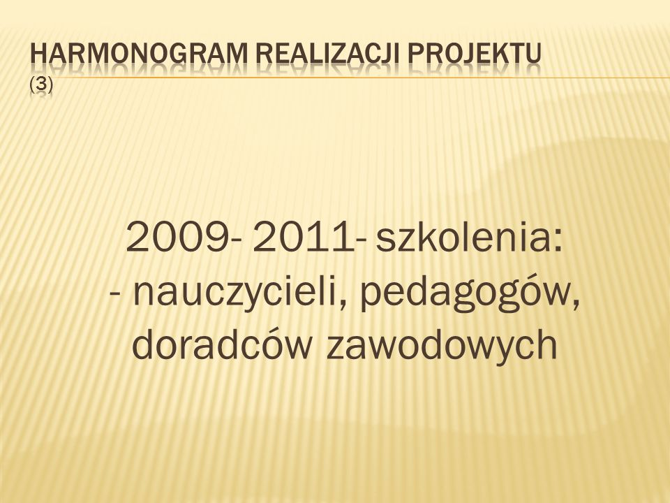 Harmonogram realizacji projektu (3)