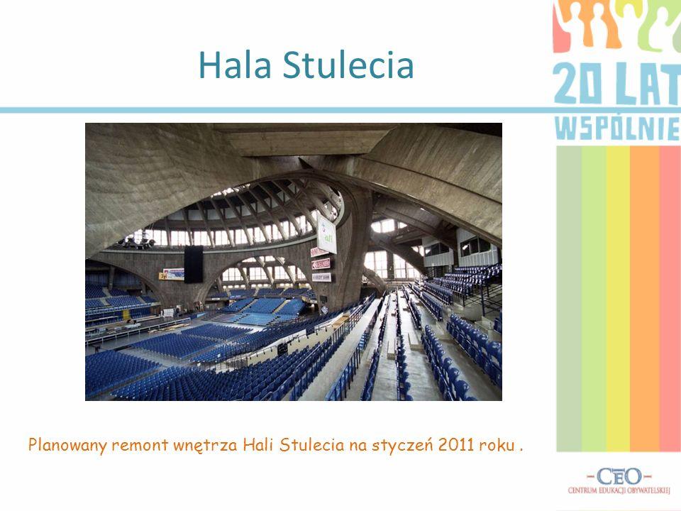 Hala Stulecia Planowany remont wnętrza Hali Stulecia na styczeń 2011 roku .