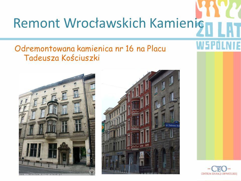 Remont Wrocławskich Kamienic