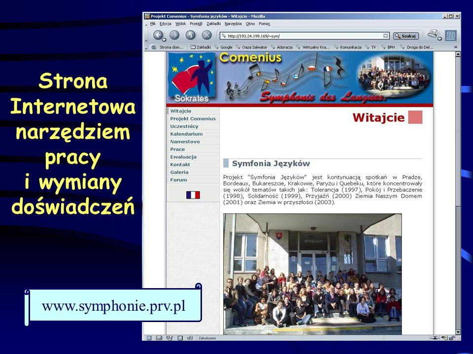 Strona Internetowa narzędziem pracy i wymiany doświadczeń