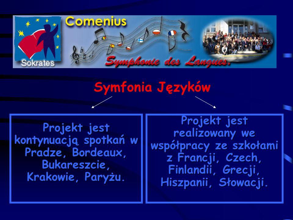 Symfonia Języków Projekt jest kontynuacją spotkań w Pradze, Bordeaux, Bukareszcie, Krakowie, Paryżu.