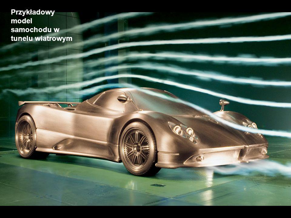 Przykładowy model samochodu w tunelu wiatrowym