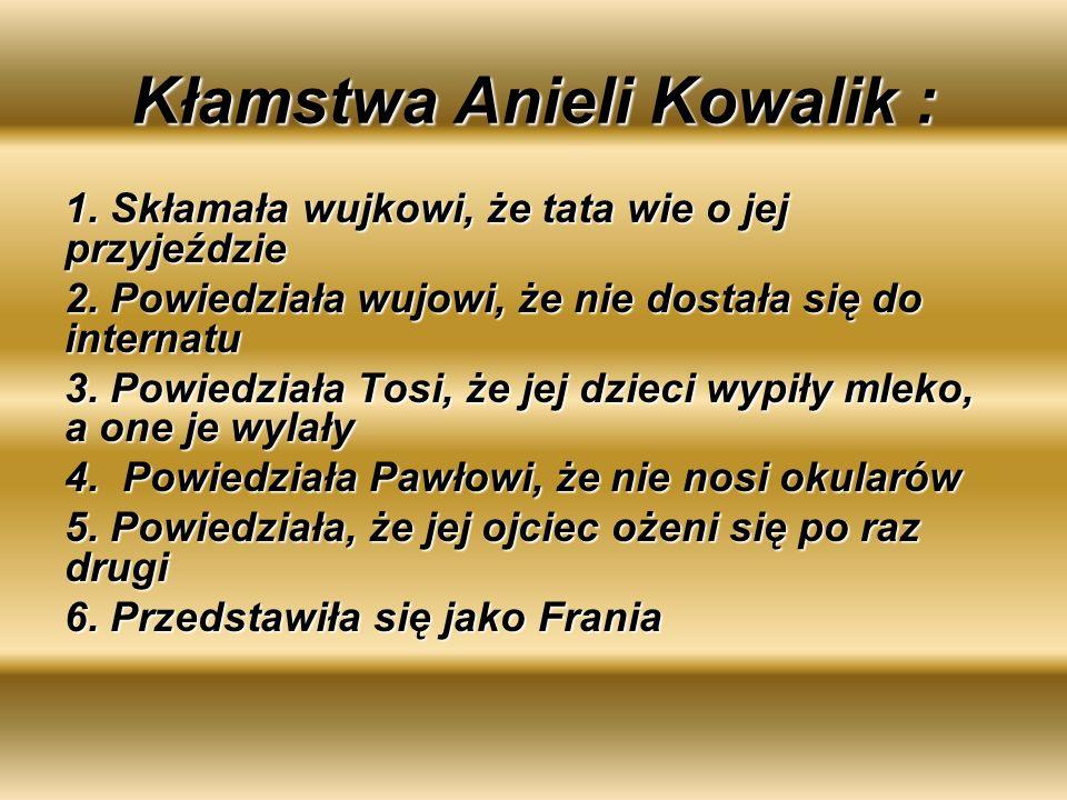 Kłamstwa Anieli Kowalik :
