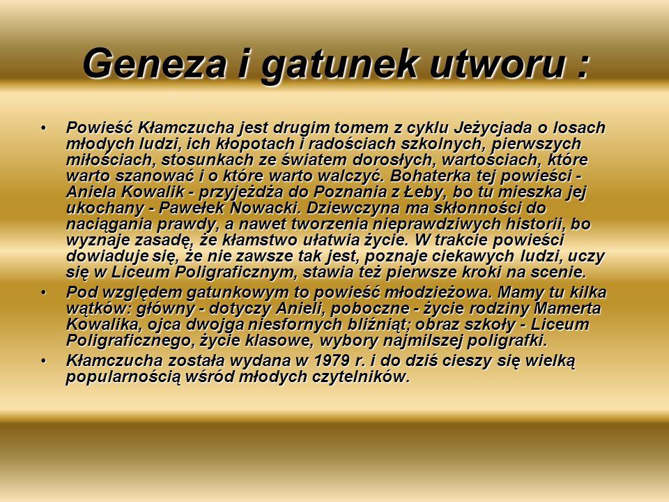 Geneza i gatunek utworu :