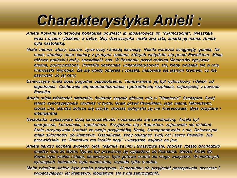 Charakterystyka Anieli :