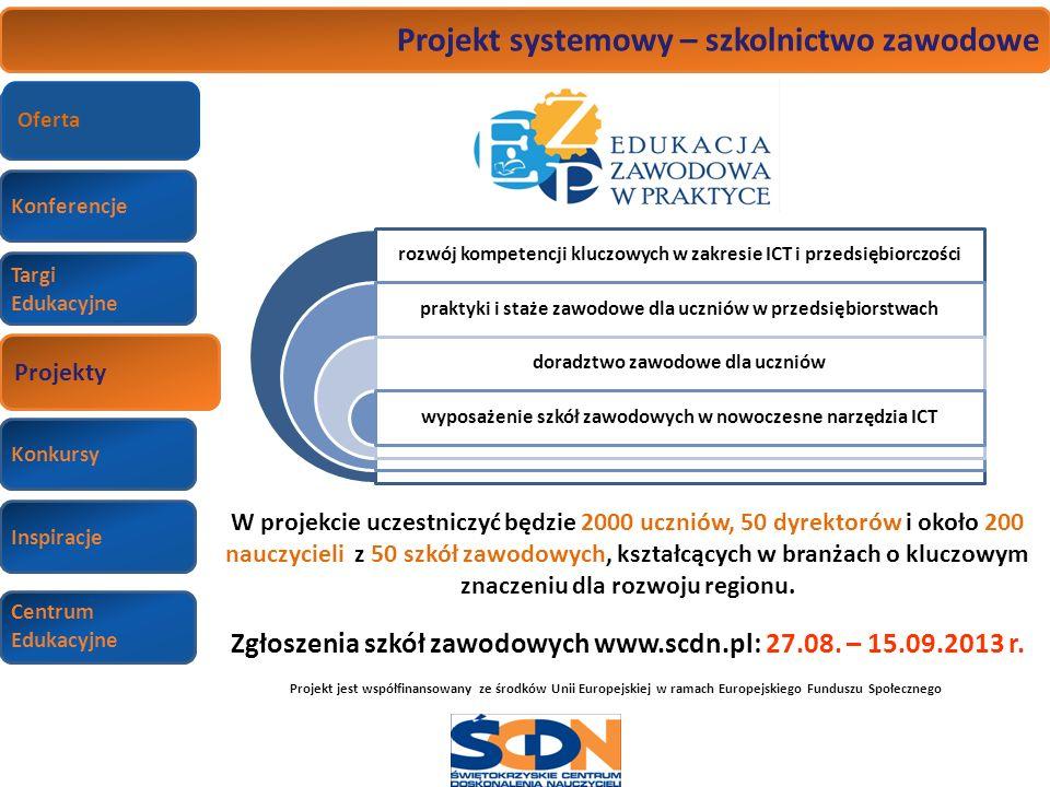 Projekt systemowy – szkolnictwo zawodowe