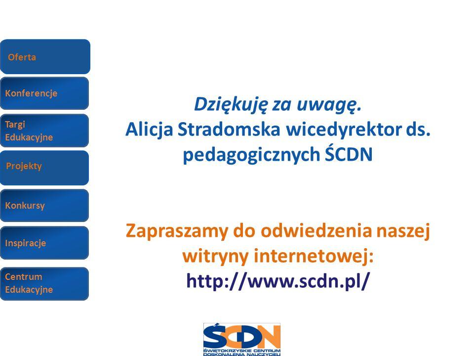 Alicja Stradomska wicedyrektor ds. pedagogicznych ŚCDN