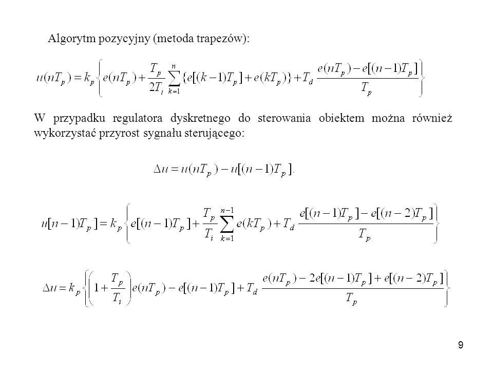 Algorytm pozycyjny (metoda trapezów):