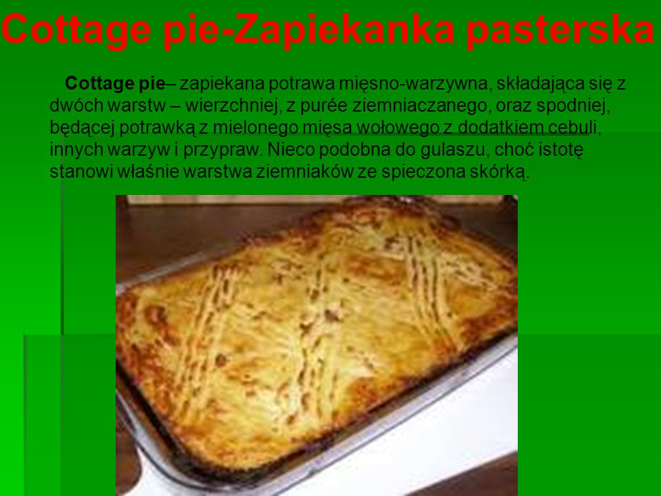 Cottage pie-Zapiekanka pasterska