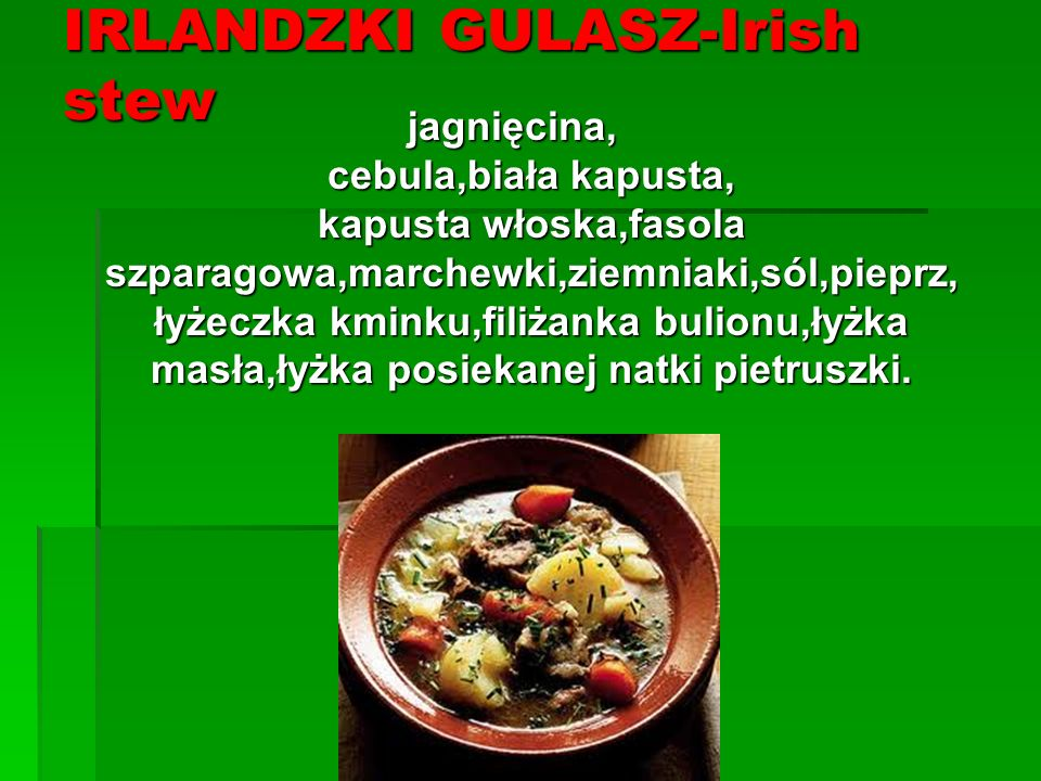 IRLANDZKI GULASZ-Irish stew
