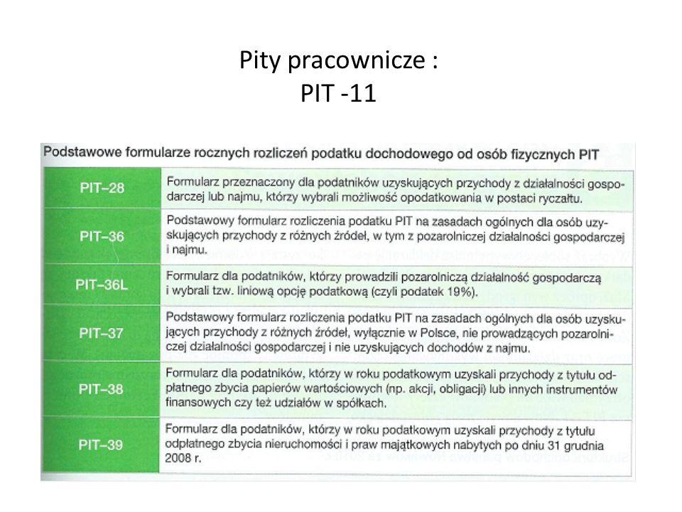 Pity pracownicze : PIT -11