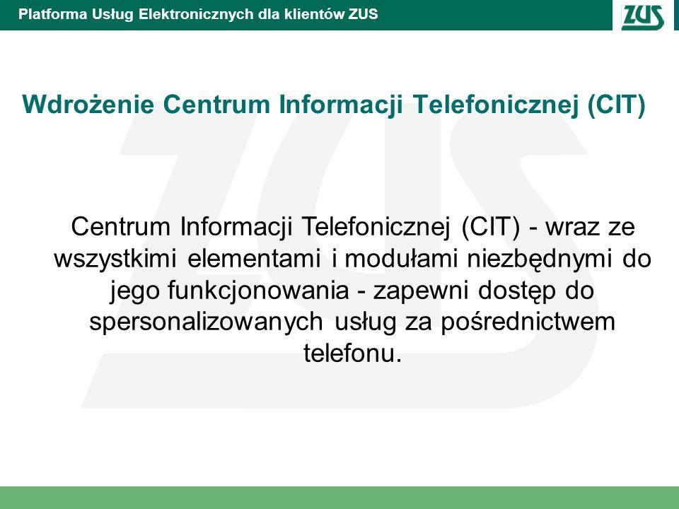 Platforma Usług Elektronicznych dla klientów ZUS