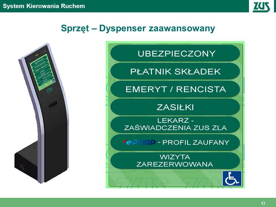 Sprzęt – Dyspenser zaawansowany