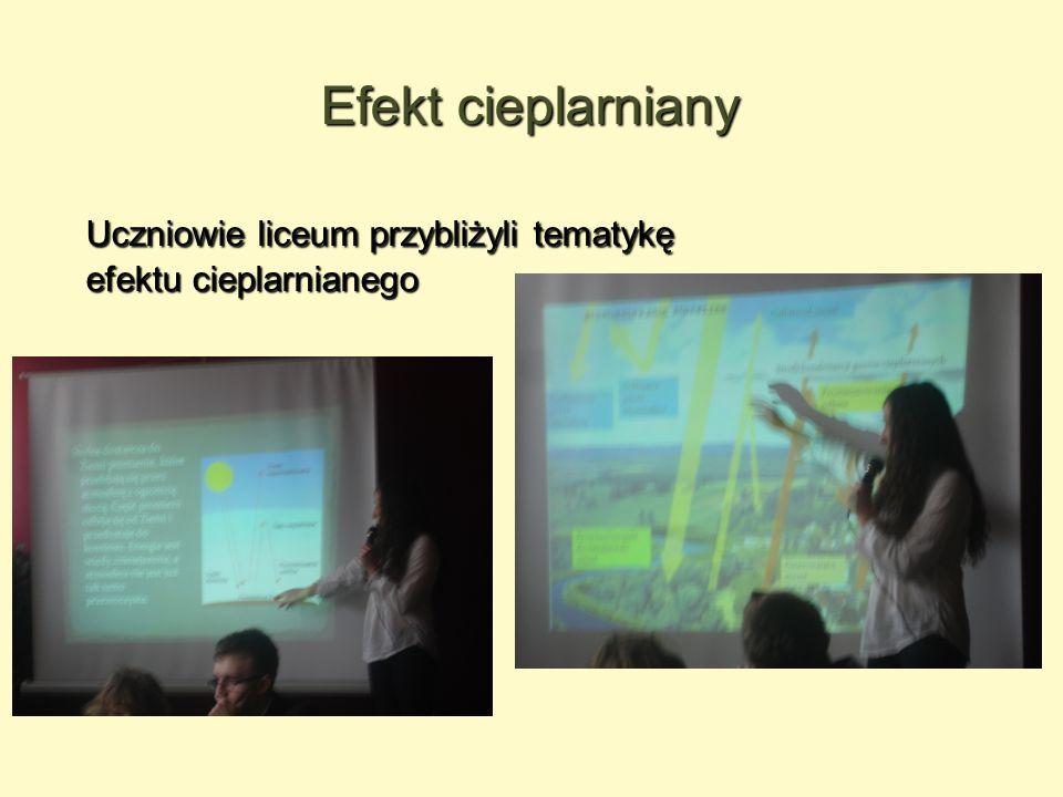 Efekt cieplarniany Uczniowie liceum przybliżyli tematykę efektu cieplarnianego