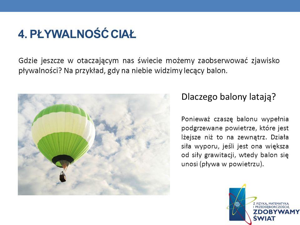 4. Pływalność ciał Dlaczego balony latają