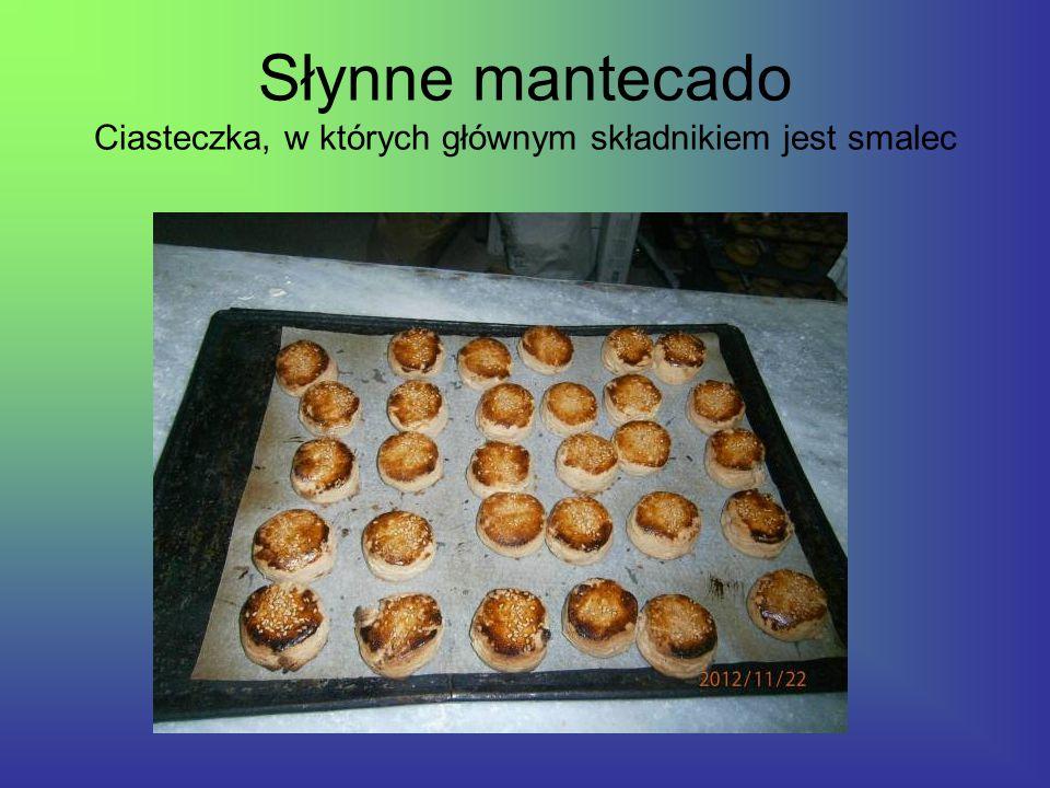 Słynne mantecado Ciasteczka, w których głównym składnikiem jest smalec