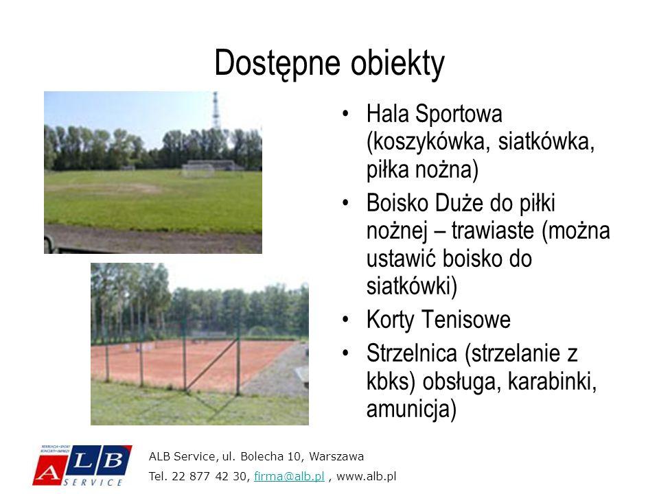 Dostępne obiekty Hala Sportowa (koszykówka, siatkówka, piłka nożna)